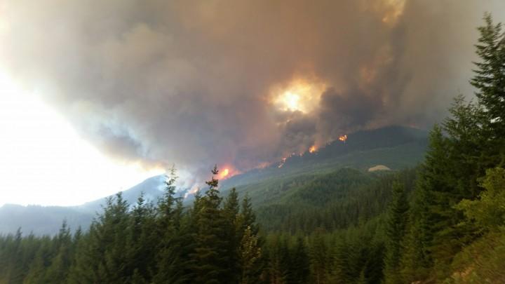 The Boulder Creek Wildfire near Pemberton, July 4, 2015.