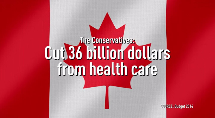 A screencap of a political ad from Engage Canada