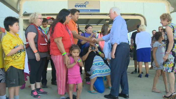 Canada's Governor General arrived in Saskatchewan Wednesday to meet with those impacted from the raging wildfires.