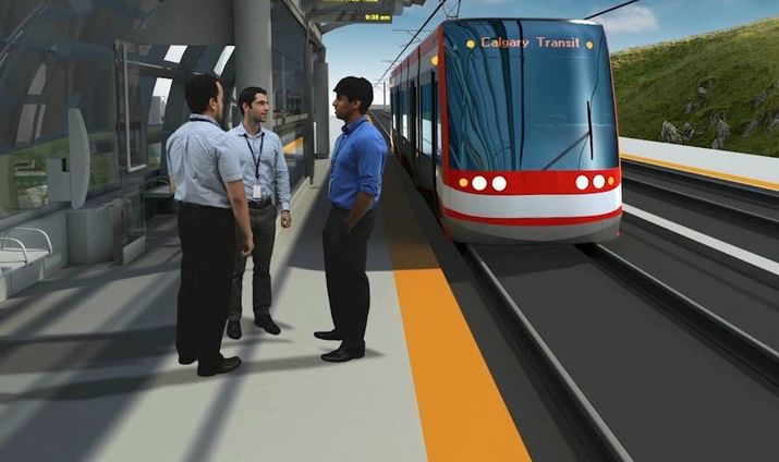 A rendering of the S.E. Green Line.