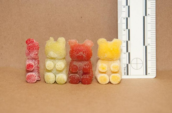 Gummy bears laced with THC.