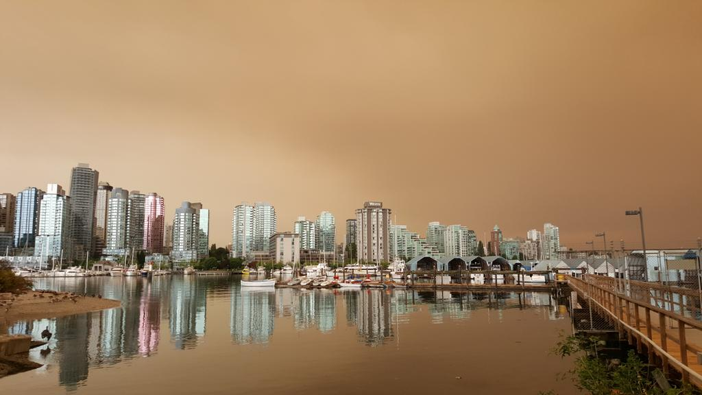 Residents across Metro Vancouver and other parts of B.C. woke to the sight of a strange haze in the sky Sunday morning.