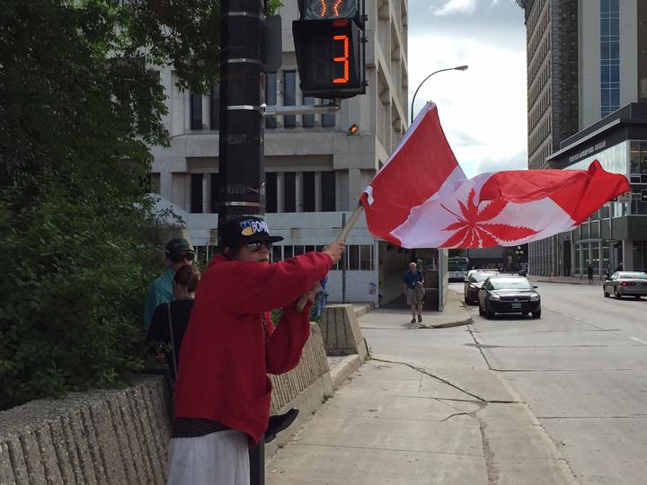 marijuana protest Winnipeg pot