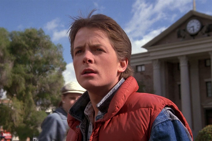 Michael J. Fox, pictured in 'Back to the Future.'.