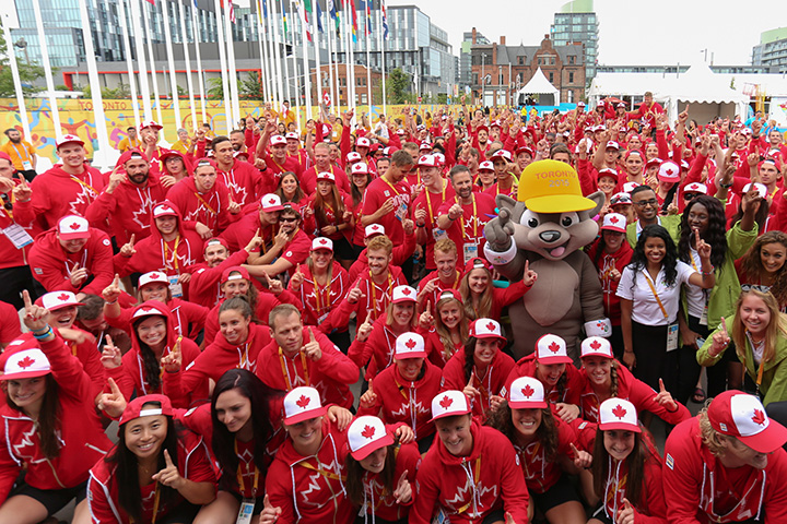 Team Canada welcome ceremony in Toronto, Wednesday, July 8, 2015.