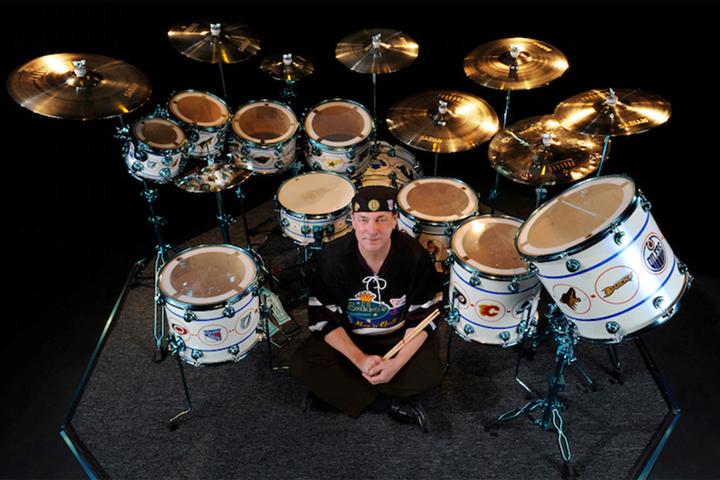 Rush drummer Neil Peart.