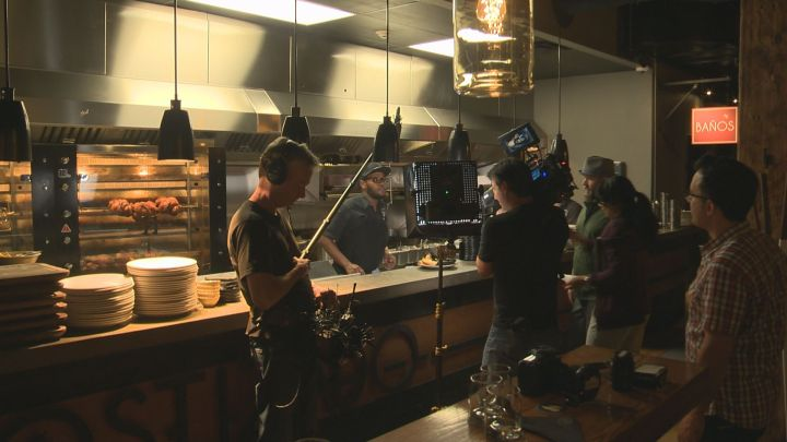 'You Gotta Eat Here!' crews film at Edmonton's Rostizado Wednesday, July 8, 2015. The restaurant is 84th on the list.