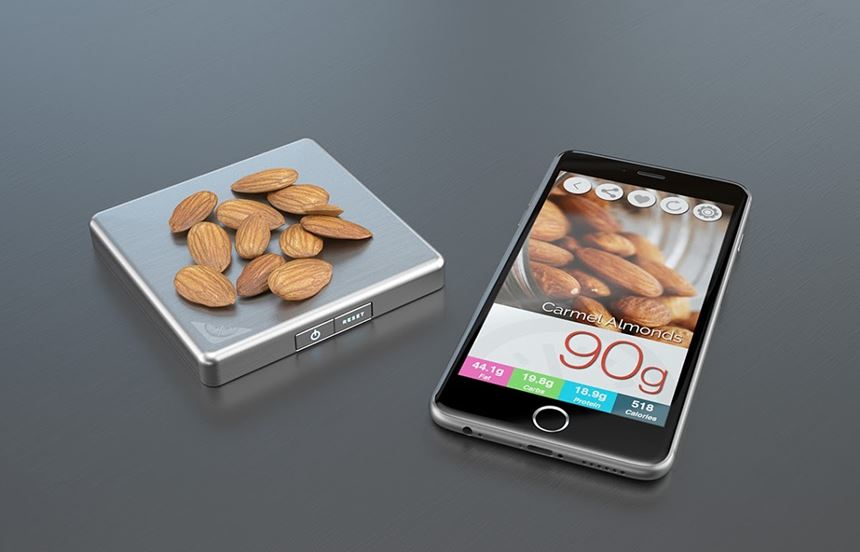 Slate Scale is portable and connects to your smartphone via Bluetooth.