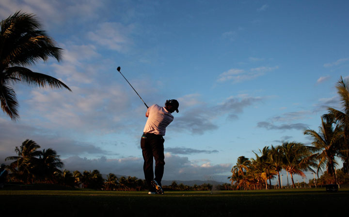 Scott McCarron plays his shot from the tenth tee during round two of the Puerto Rico Open presented by Banco Popular on March 6, 2015 in Rio Grande, Puerto Rico.
