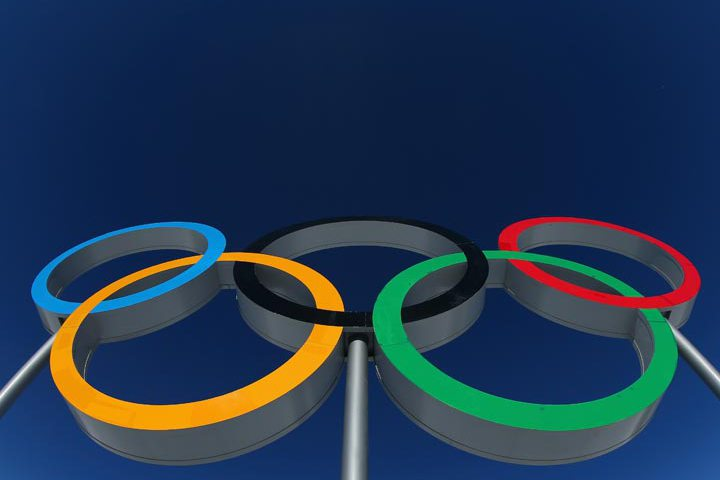 The Olympic rings are seen ahead of the Sochi 2014 Winter Olympics at the Laura Cross-Country Ski and Biathlon Center on February 5, 2014 in Sochi, Russia.