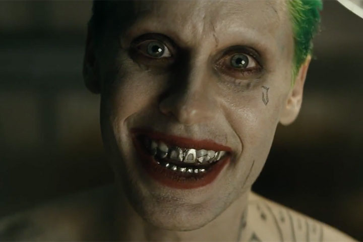 Jared Leto as the Joker in a scene from 'Suicide Squad.'.