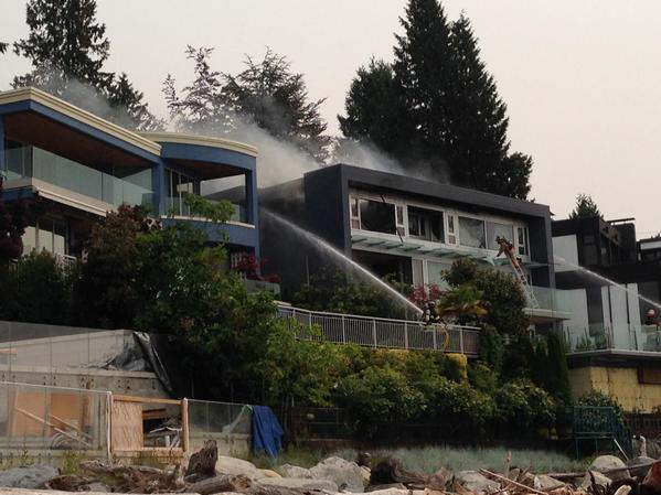 Arson suspected in a fire at this West Vancouver home.