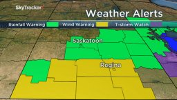 Continue reading: Rainfall warning continued, expanded in Saskatchewan