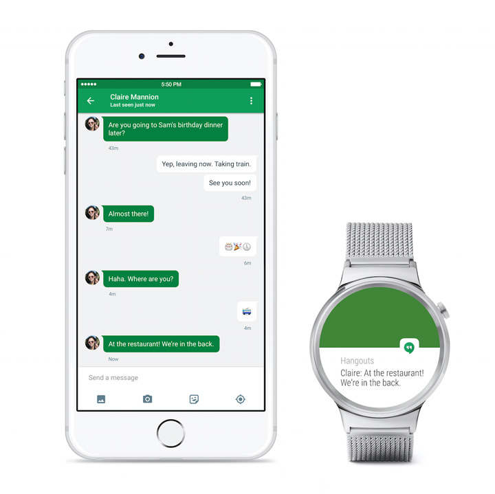 The app, launched in Apple's App Store on Monday, will enable the latest Android watches to link with the iPhone so people can quickly glance at their wrists for directions, fitness information and notifications about events, emails and Facebook updates.