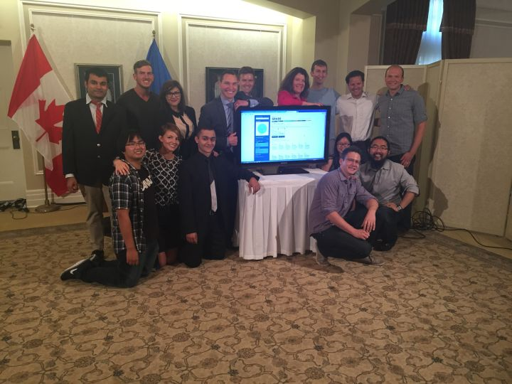 """Service Alberta Minister Deron Bilous announces the winners of the """"Apps for Alberta"""" contest Wednesday, August 12, 2015."""