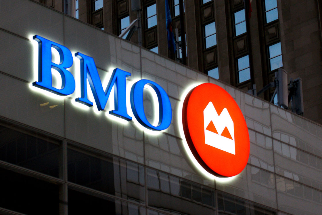 BMO, the country's third-biggest lender, said earnings jumped in the latest three-month stretch despite headwinds created by lower oil prices.