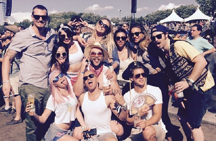 Cara Delevingne and her Suicide Squad co-stars at Osheaga, Saturday, August 1, 2015.