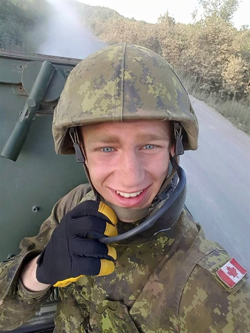 Samuel Nadeau is shown in this undated handout photo. The Canadian Forces National Investigation Service is looking into the death of a reservist at a base in New Brunswick. The military says Nadeau was training at C-F-B Gagetown when he died Monday. THE CANADIAN PRESS/DND-HO.