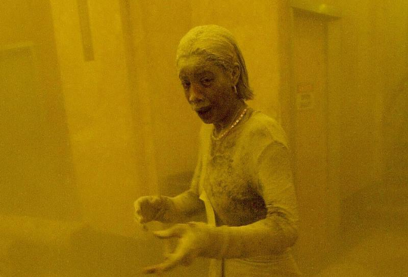 Marcy Borders became known as the Dust Lady after this iconic photo of her, from the Sept. 11 attacks on the World Trade Center, appeared around the world.