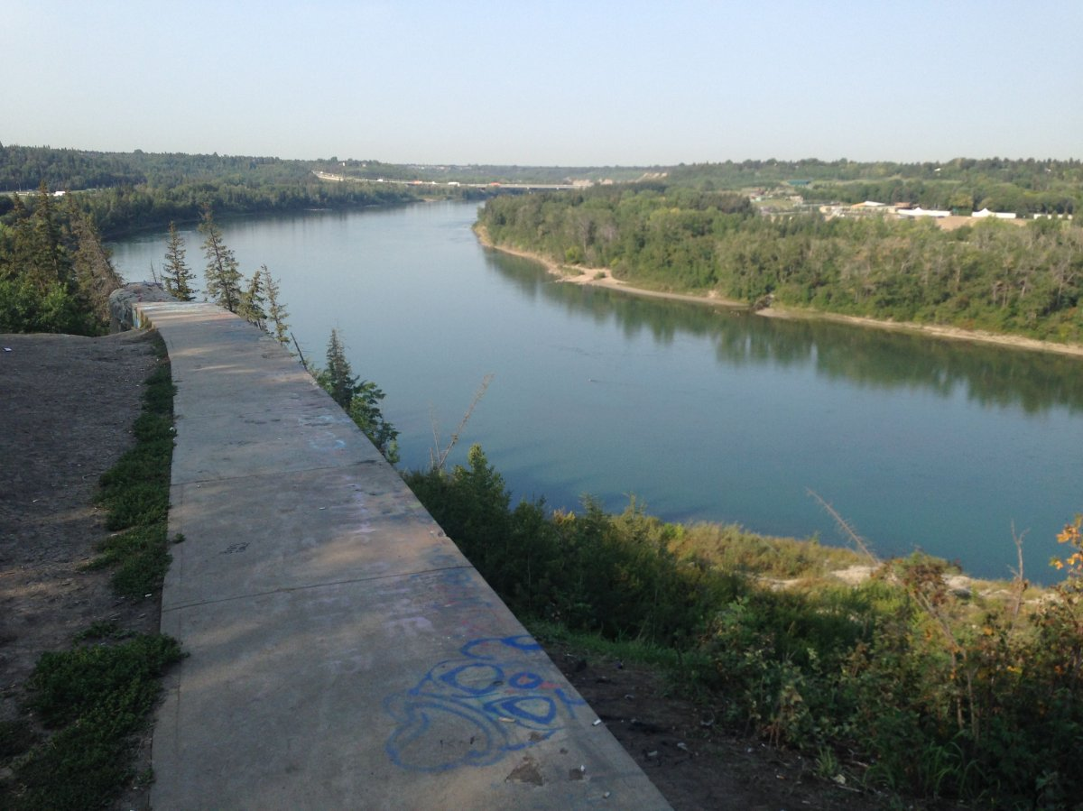 The End of the World viewpoint in Edmonton.  August 25, 2015.