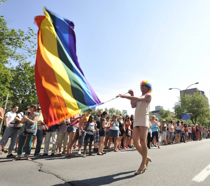 The Gay Pride Parade, Montreal, August 18, 2013.