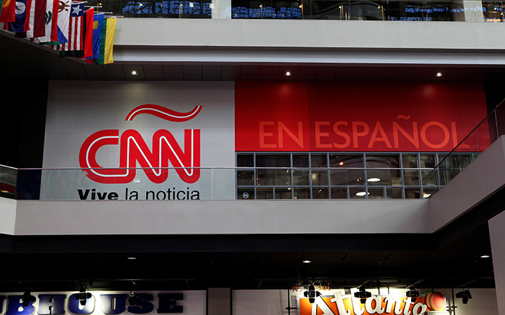CNN En Espanol inside the CNN Center on July 17, 2015.