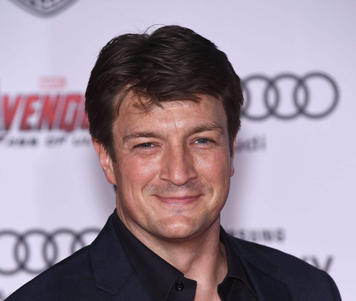 Nathan Fillion arriving for the premiere of Avengers: Age of Ultron at the Dolby Theatre in Hollywood, Los Angeles on April 13, 2015.
