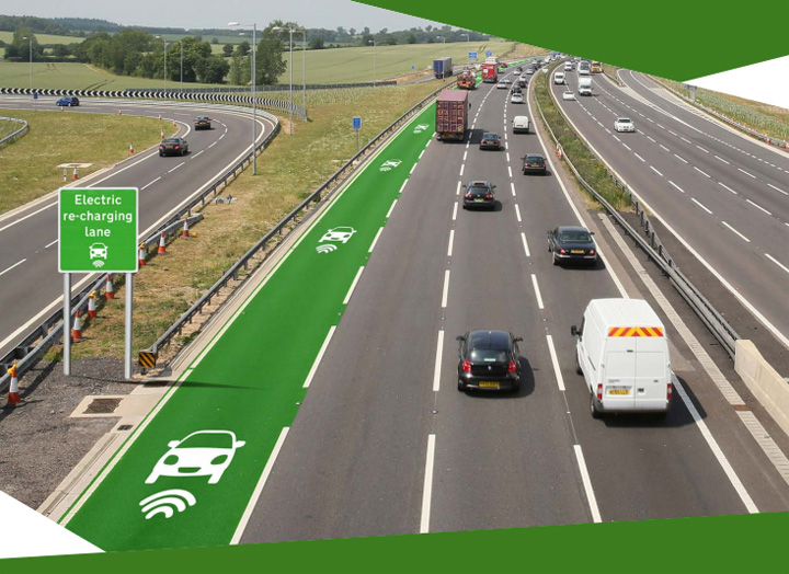 "Highways England, the UK government body responsible for road infrastructure, has announced that it will begin feasible testing of electric ""re-charging"" lanes, which would provide a charge to vehicles as they drive along them."