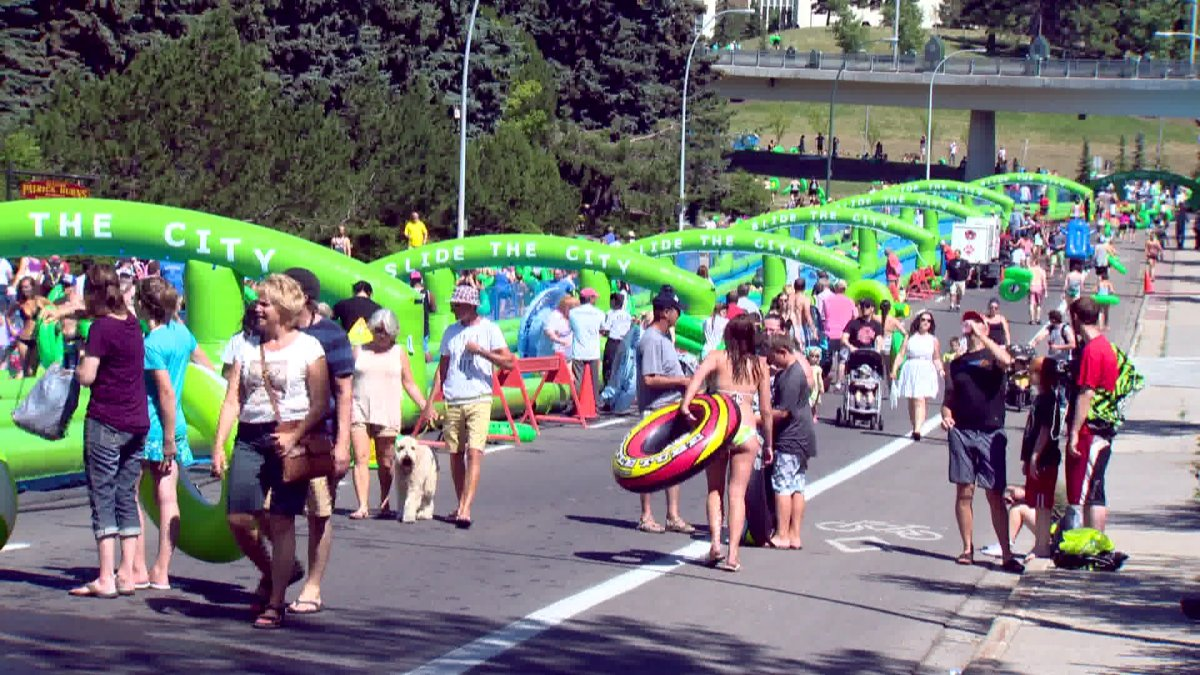 Slide the City, Calgary, August 1, 2015.
