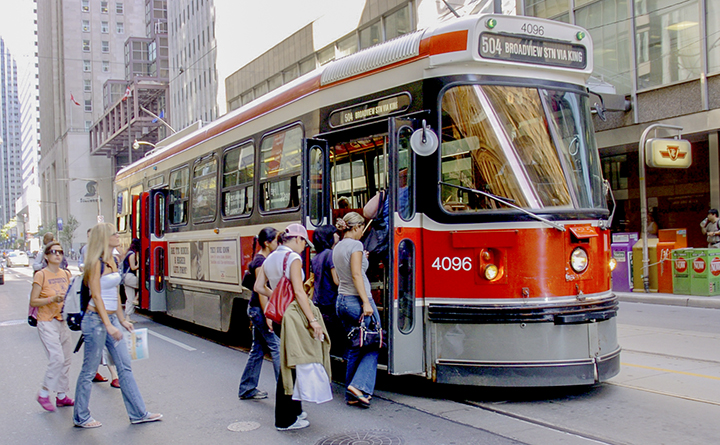 Buses will replace all streetcars on the 501 Queen Street route beginning Sunday until September. TTC/Handout.