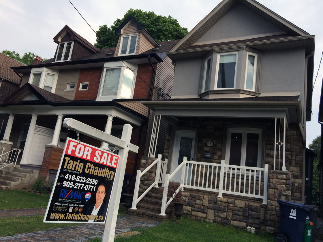 Resale prices for existing homes in Toronto rose 10 per cent last month, according to a benchmark index.