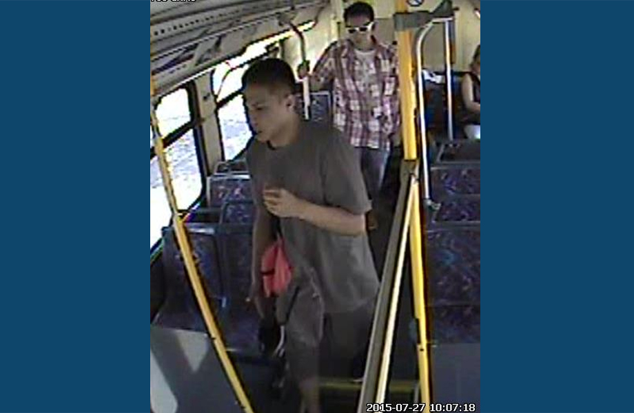 Police are searching for two men who supposedly grabbed cellphones right out of two transit riders hands and fled.