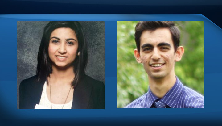 Nimra Dar (left) and Simranjeet Singh have each been awarded a Schulich scholarship.