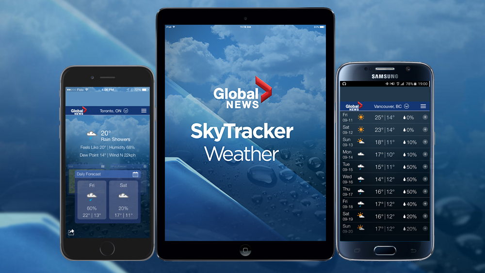 The Global News SkyTracker app is available for iOS and Android devices.