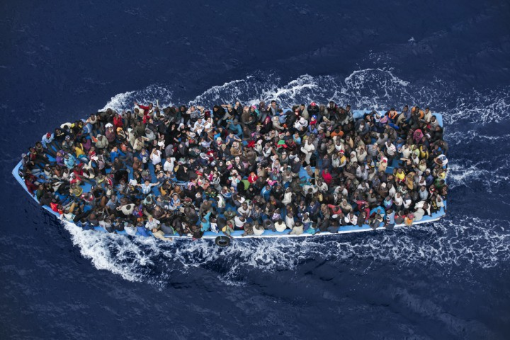 This photograph by Italy's Massimo Sestini won second prize in the General News category, World Press Photo 2015.