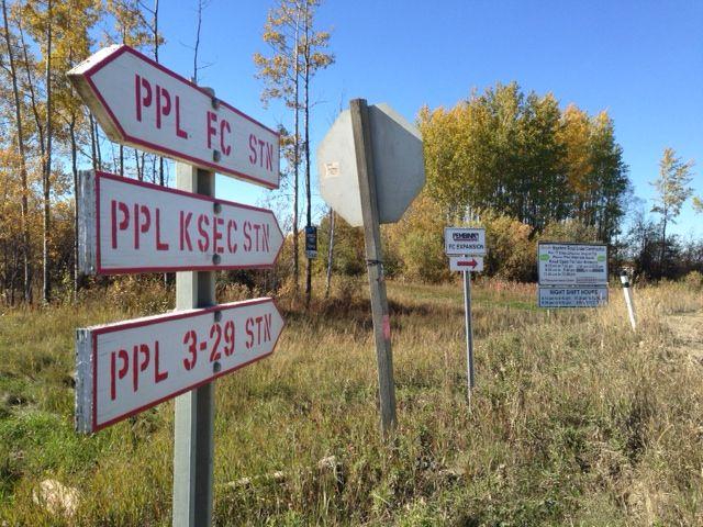 The Encana site near Fox Creek, Sept. 22, 2015.