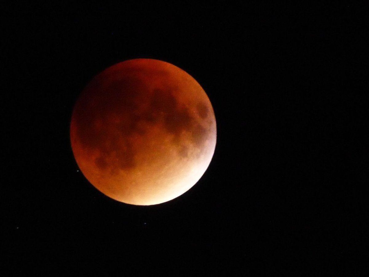 Super blood moon eclipse, September 27, 2015.
