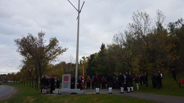 The Field of Crosses Cenotaph unveiled along Memorial Drive.