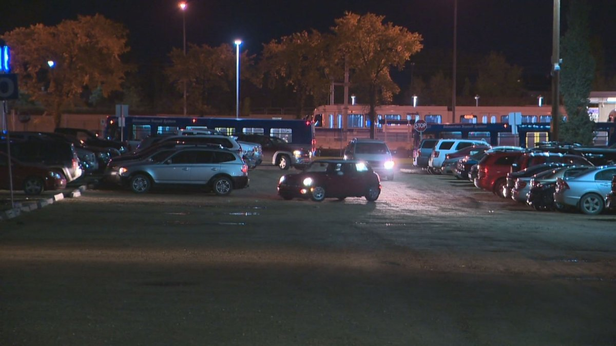 Showing up around 6 a.m. is the key to getting a parking stall at the popular parking lot at the Century Park transit station in south Edmonton.