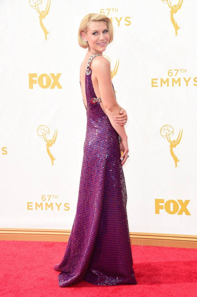 Actress Claire Danes attends the 67th Annual Primetime Emmy Awards at Microsoft Theater on September 20, 2015 in Los Angeles, California.