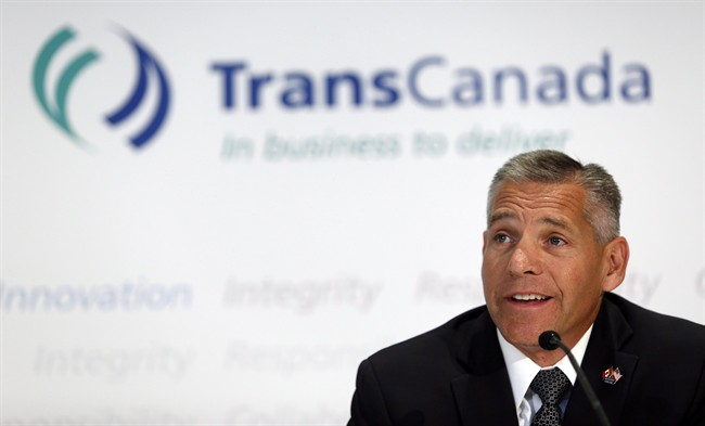 TransCanada CEO Russ Girling attends a news conference in Calgary, Alta., Thursday, Aug. 1, 2013.