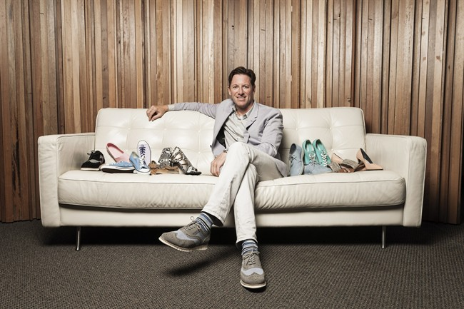 Shoes.com co-founder and CEO Roger Hardy is seen in this undated handout photo. The online footwear and apparel retailer has announced a two-hour delivery service on hundreds of footwear products.