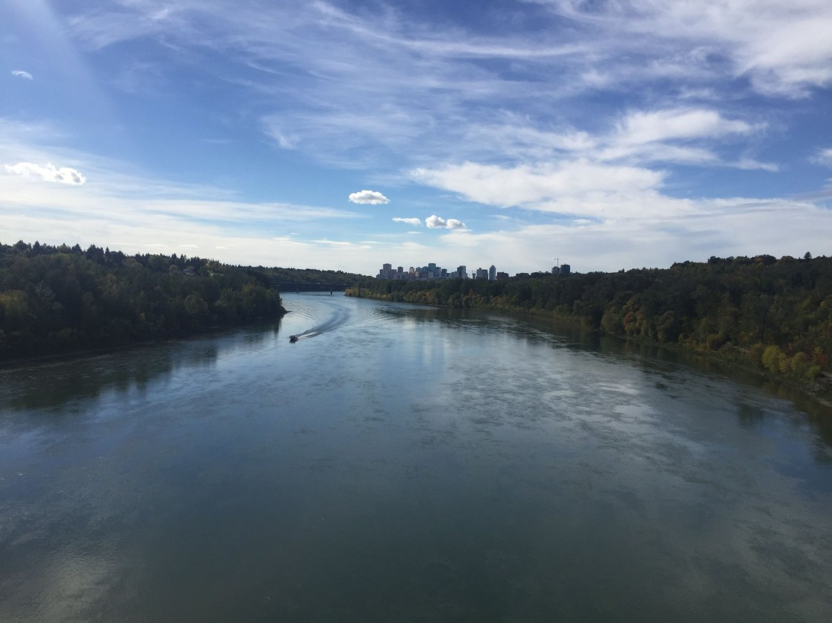 The view of the Edmonton river valley from the 50th street footbridge on Friday September 18, 2015.