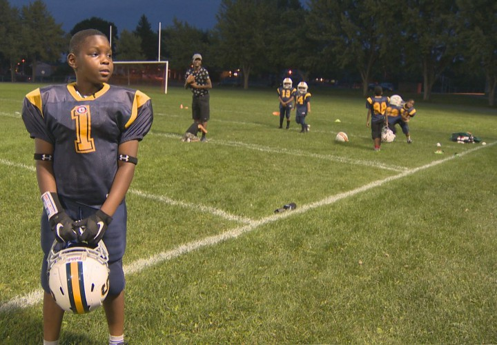 Shekai Mills Knight, 9, was deemed too heavy to play football with his team, Monday, September 21, 2015.