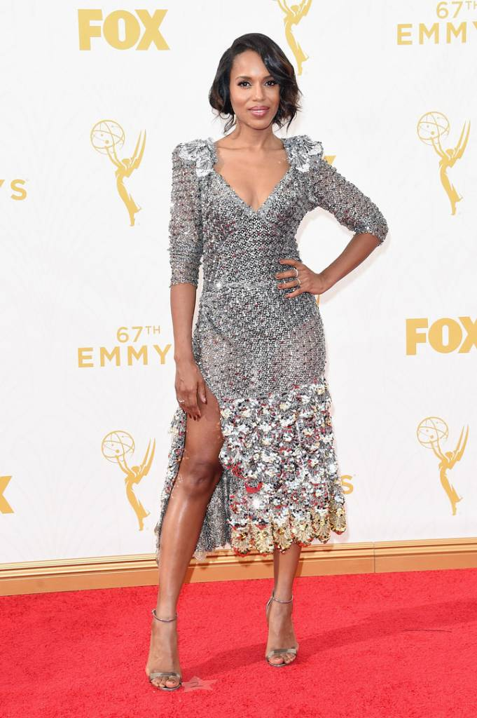 Actress Kerry Washington attends the 67th Annual Primetime Emmy Awards at Microsoft Theater on September 20, 2015 in Los Angeles, California.