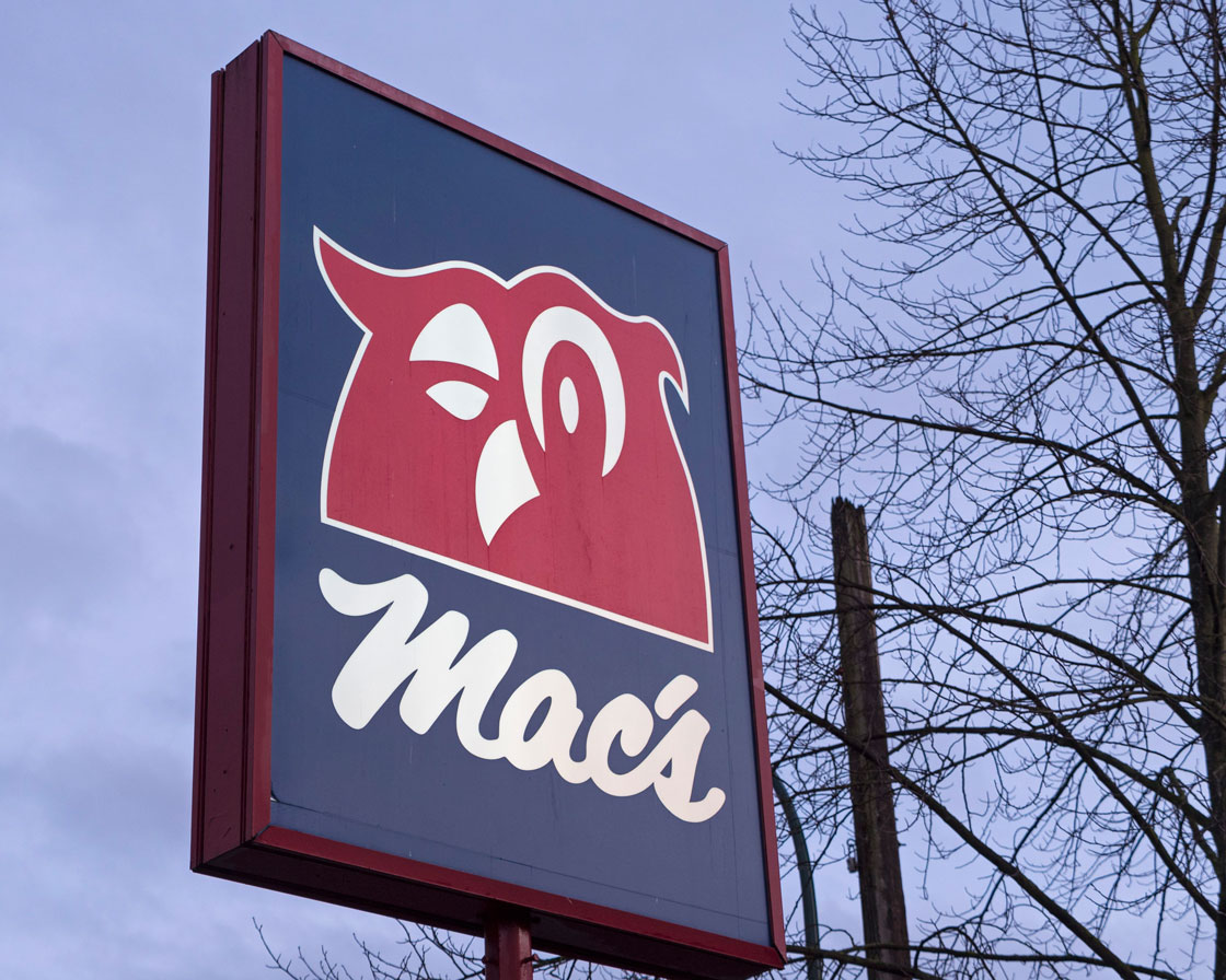 A Mac's sign in Ontario.
