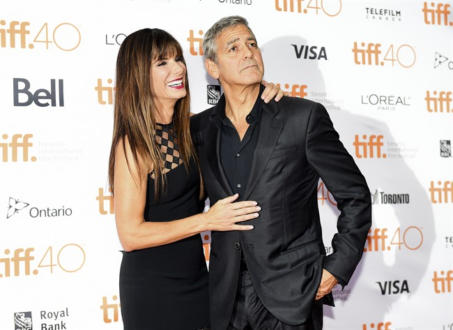 Sandra Bullock gave one reporter a lesson in hair roots at the press conference for her movie 'Our Brand Is Crisis' during the 40th annual Toronto International Film Festival (TIFF), 12 September 2015. The festival runs from 10 to 20 September.