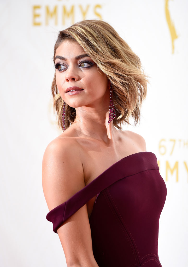 Actress Sarah Hyland attends the 67th Annual Primetime Emmy Awards at Microsoft Theater on September 20, 2015 in Los Angeles, California.
