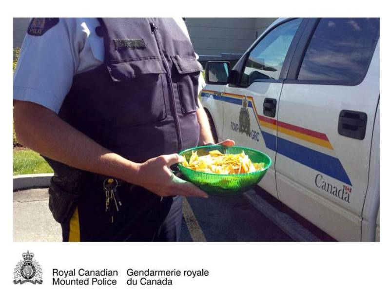 RCMP posted this picture after hearing about an underage party in Lumsden, SK.
