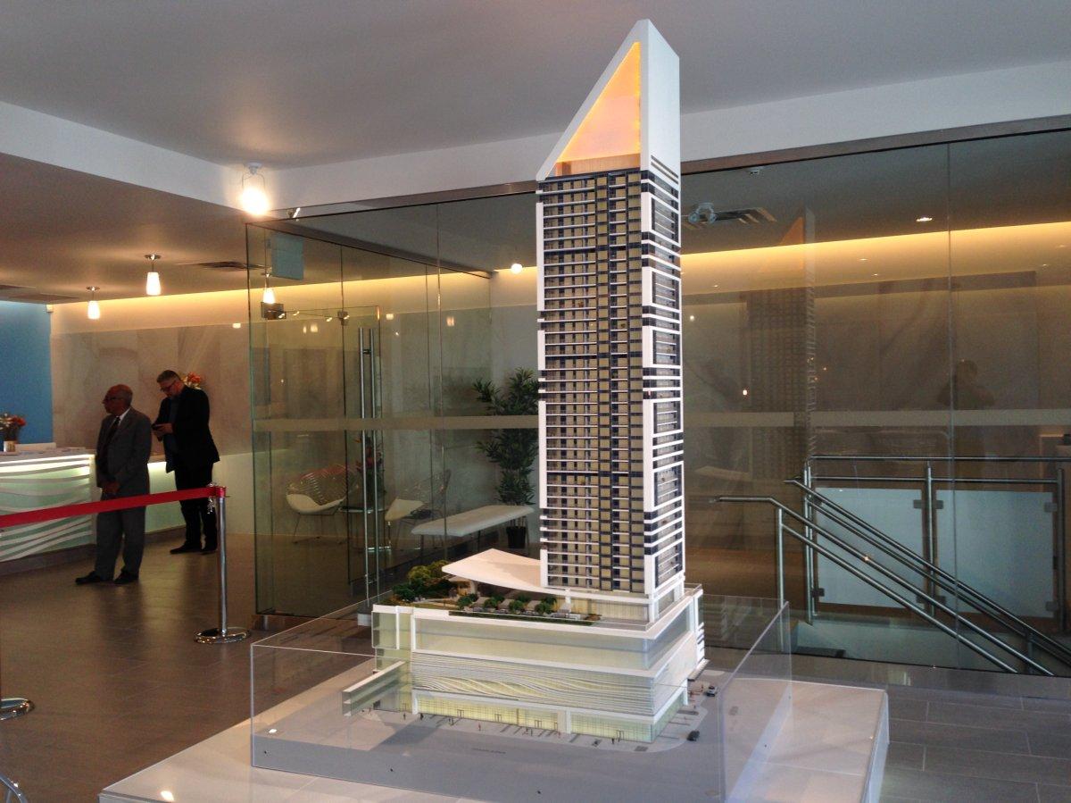 Condo sales now open for SkyCity, a planned skyscraper in downtown Winnipeg.